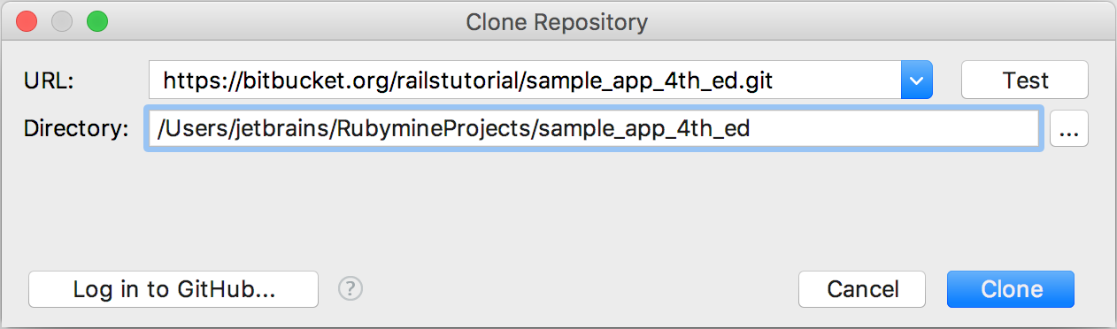 opening projects vc clone repository