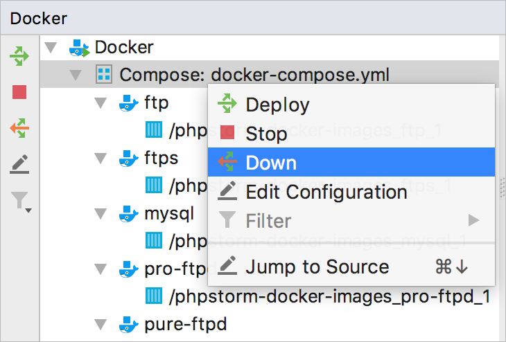 Docker Compose remove application
