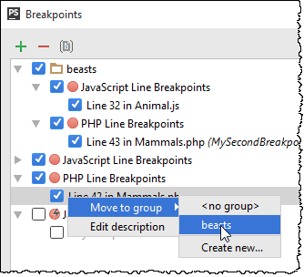 ps move breakpoint to existing group