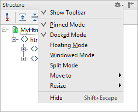 ps tool windows title bar