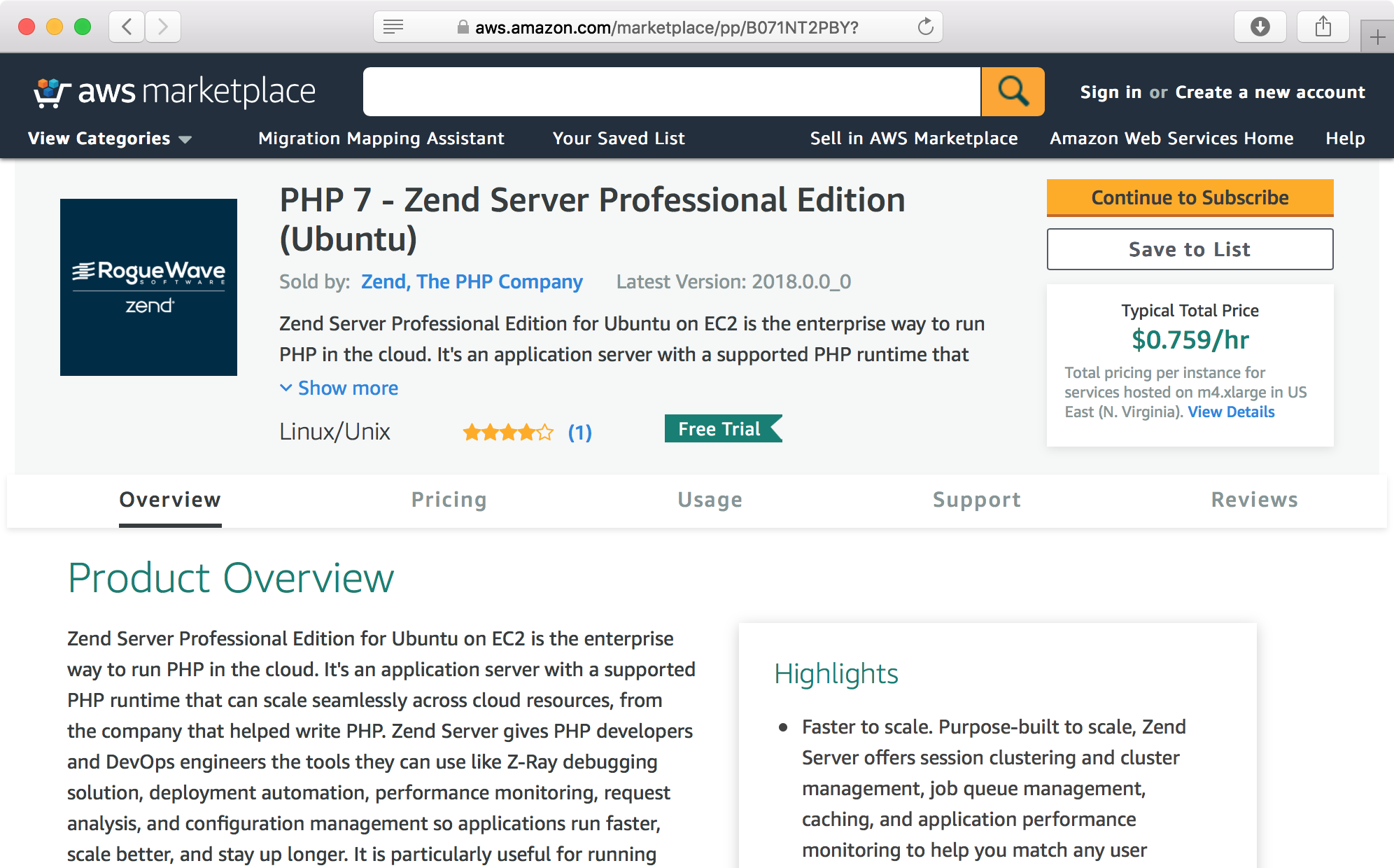 ps zend aws overview