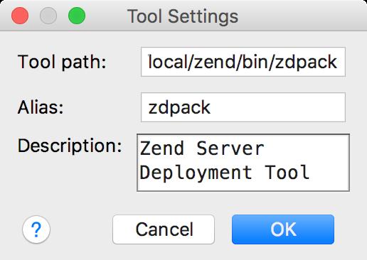 ps zend custom tool settings