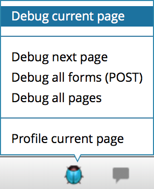 ps zend debug current page
