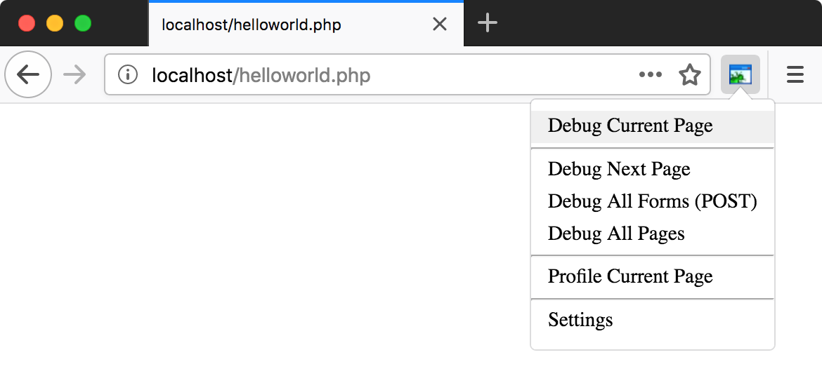 ps zend debugger firefox settings
