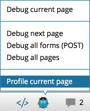 ps zend profile current page