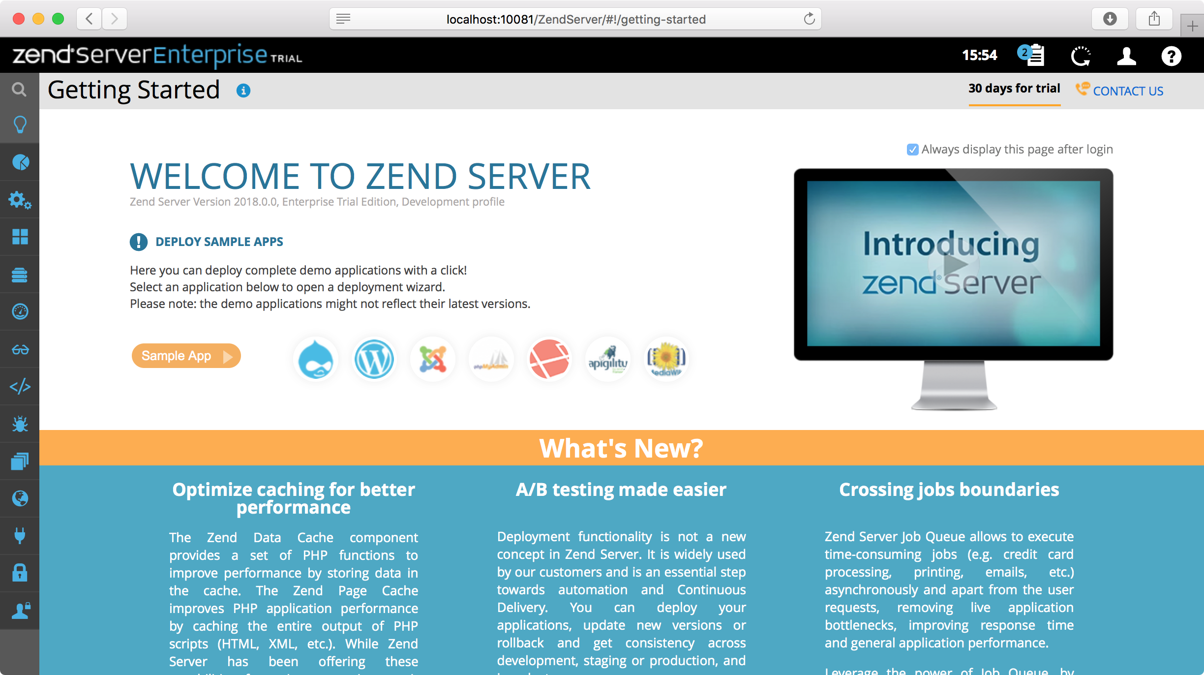ps zend start page