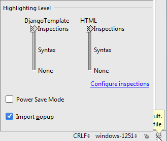 py configureInspections
