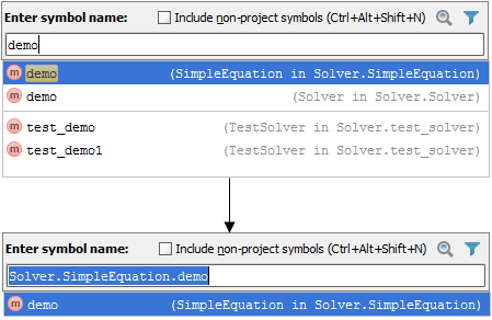 Navigating To Class File Or Symbol By Name Help Pycharm