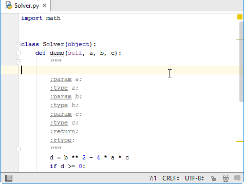 py intention docstrings done
