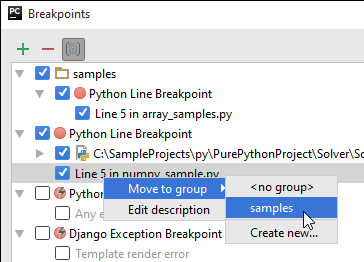 py move breakpoint to existing group