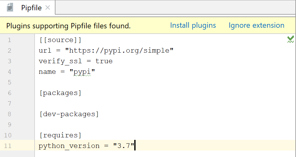 autogenerated Pipfile