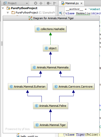 py showClassDiagram