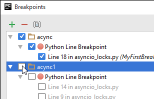 py toggle group of breakpoints