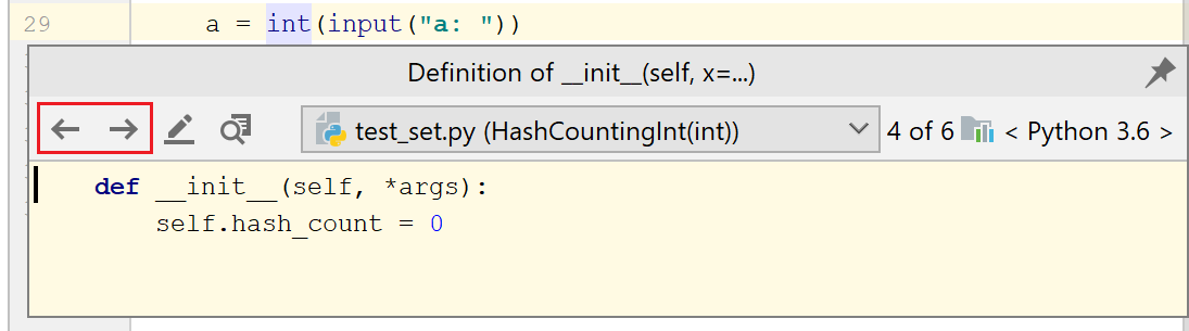 Viewing Definition Help Pycharm