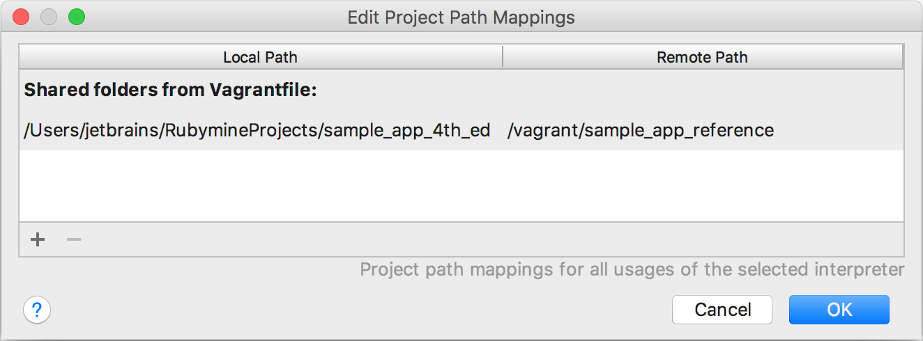 rm remote sdk vagrant mappings