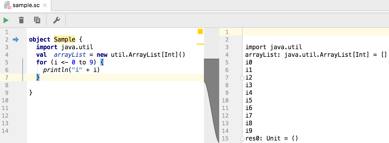 Scala Worksheet: run debug and test scala help intellij idea,
