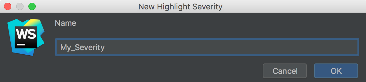 New gighlight severity