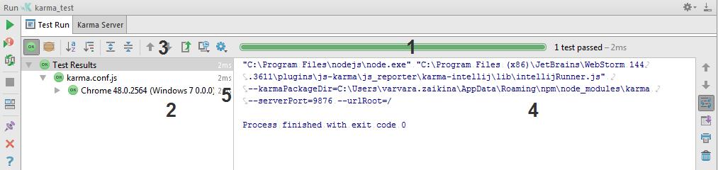 web ide test runner tab