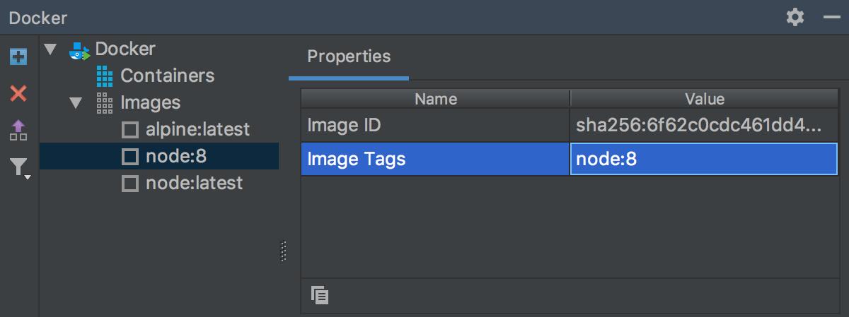 Docker image properties
