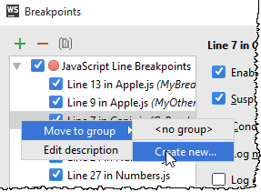 ws move breakpoint to group