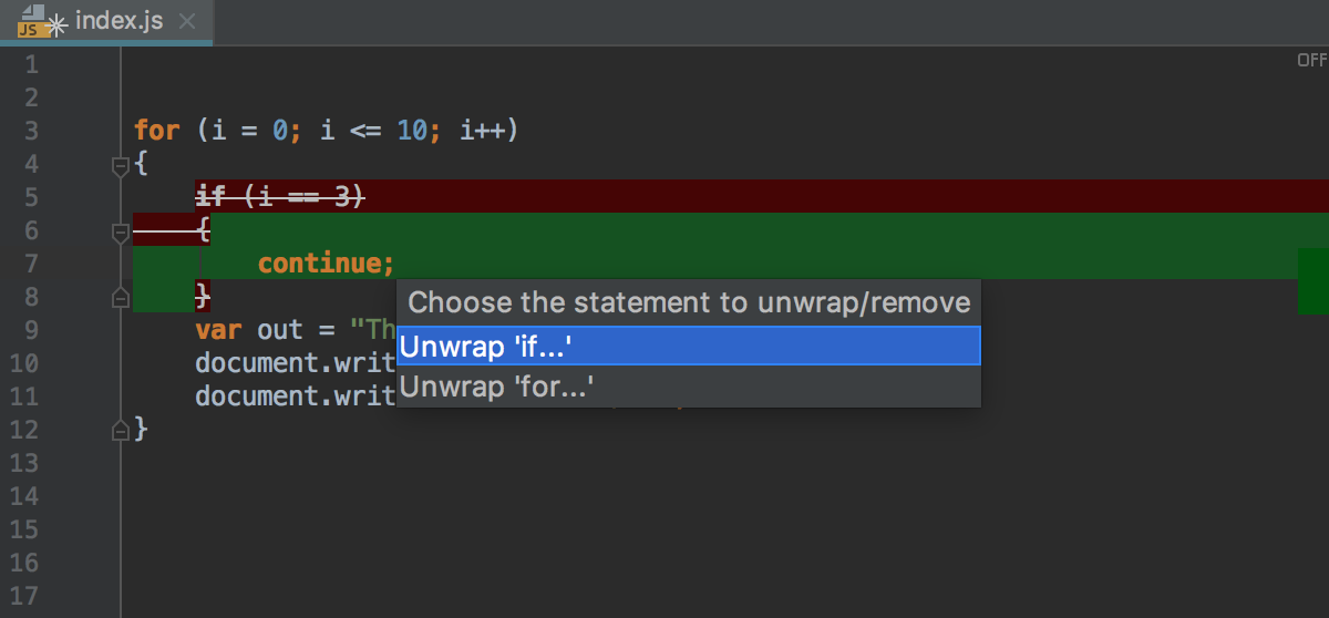 Unwrapping statements