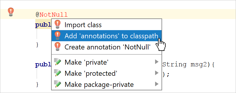 annotations NotNull