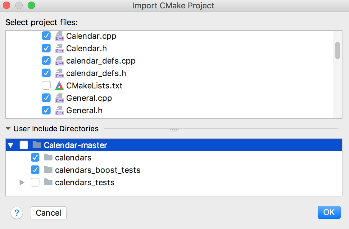 Import CMake project