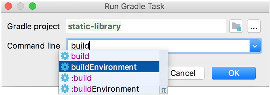 Run Gradle task