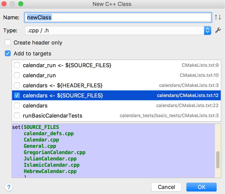cl newClass