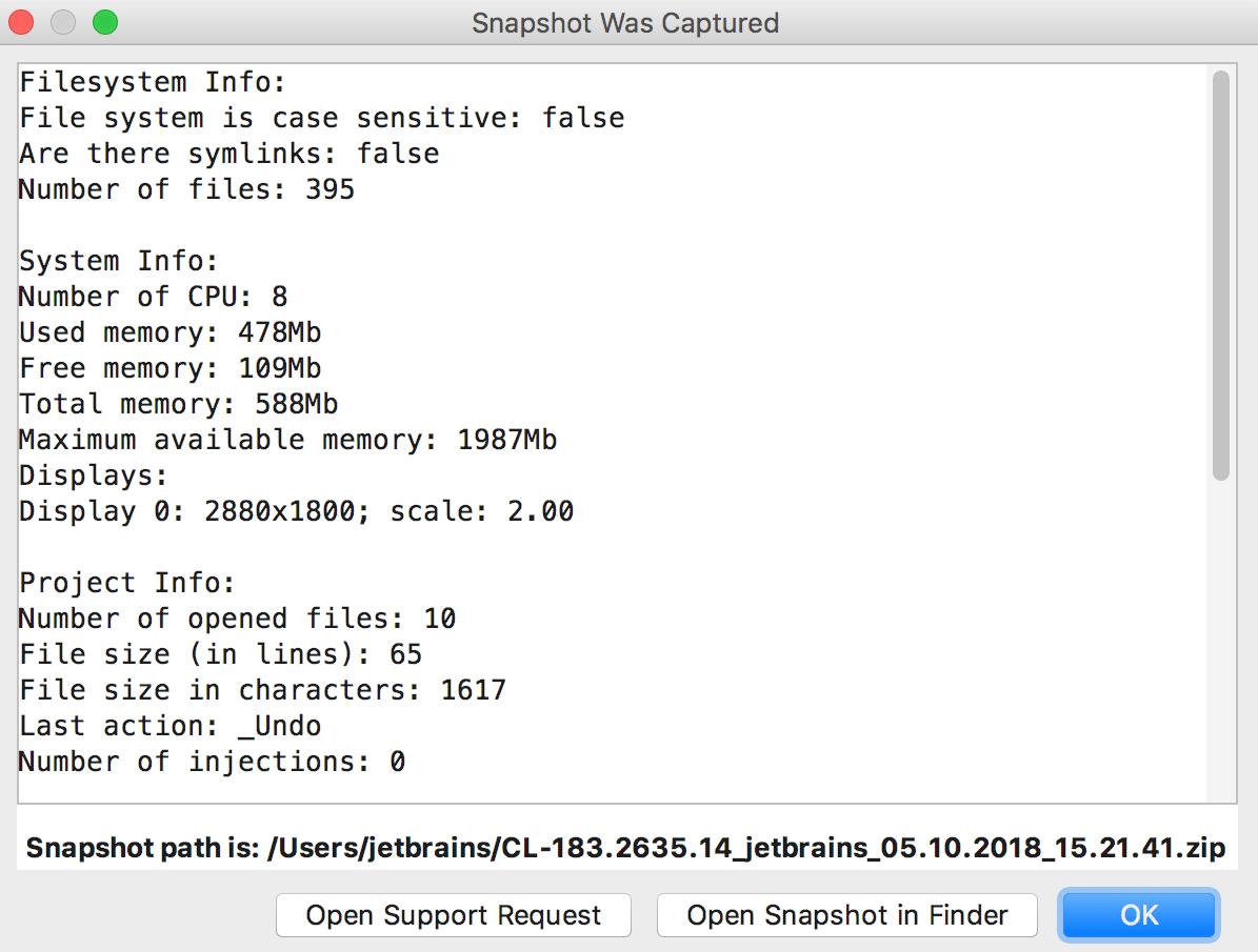 cpu snapshot from performance testing plugin