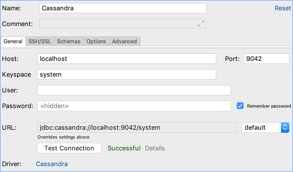 Integration with Cassandra