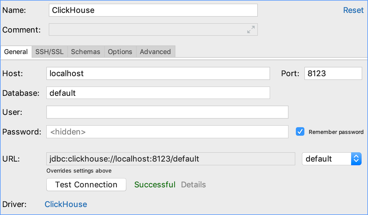 Integration with ClickHouse