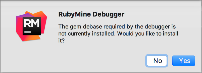 Debugging Help Rubymine