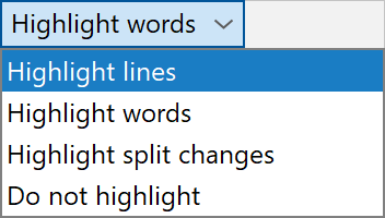Highlighting mode list