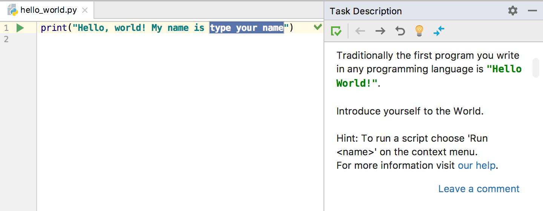 edu task description intro python