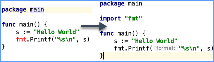 Example of goimports