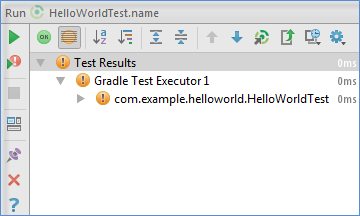 gradle test runner output