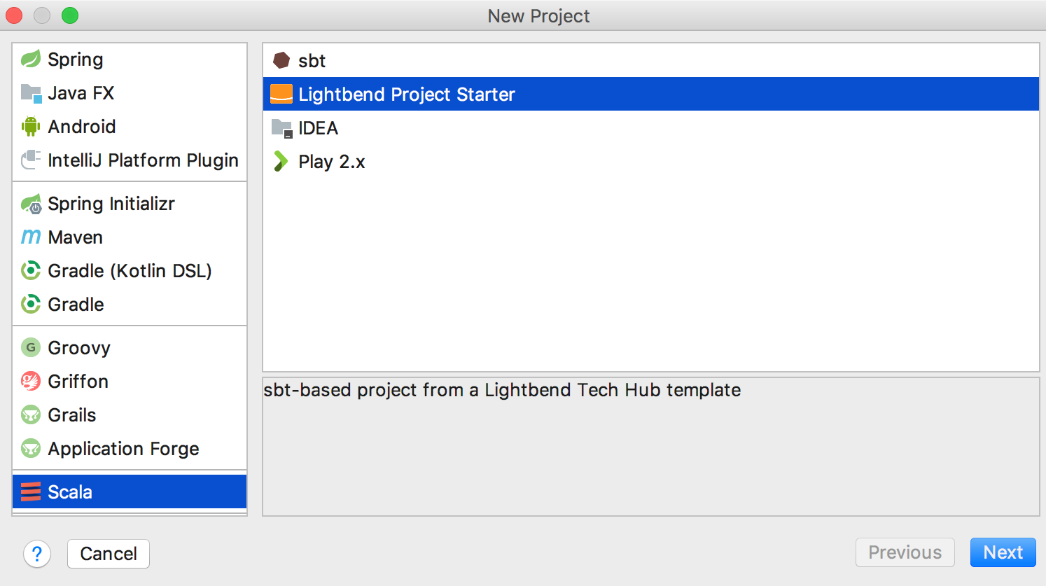 lightbend project starter