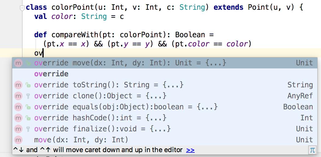 intellij code completion overwrite