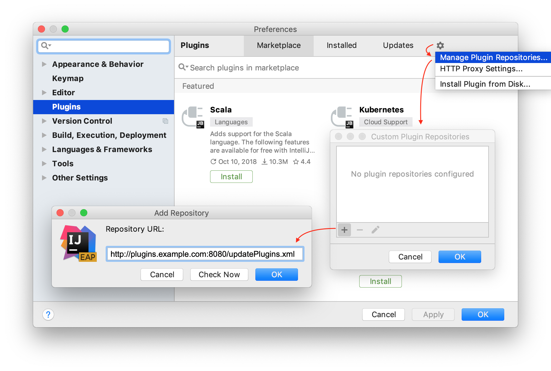 How to add a custom plugin repository