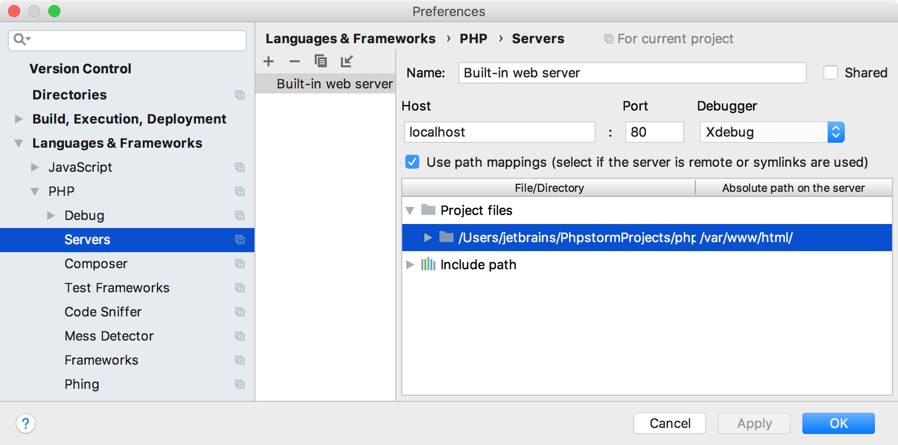 Troubleshooting Common Php Debugging Issues Help Phpstorm Project Illustrates The Use Of Sms Message To Remotely Produce Cool Ps Debug Server Mappings