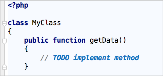 Example of TODO comment