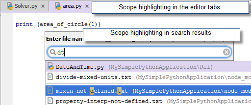 py scope highlighting