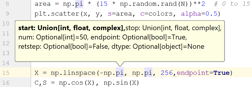 View Parameter Info