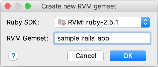 create new rvm gemset dialog