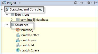 scratch files location