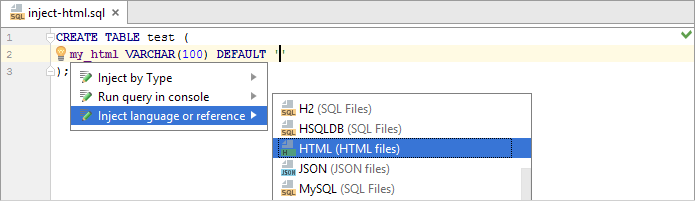 sql inject html