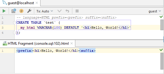 sql injection comment html prefixes