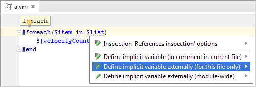 Template Languages Velocity And Freemarker Help Intellij Idea