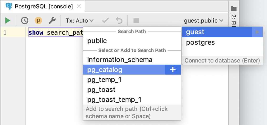 Control the search path for PostgreSQL and Redshift